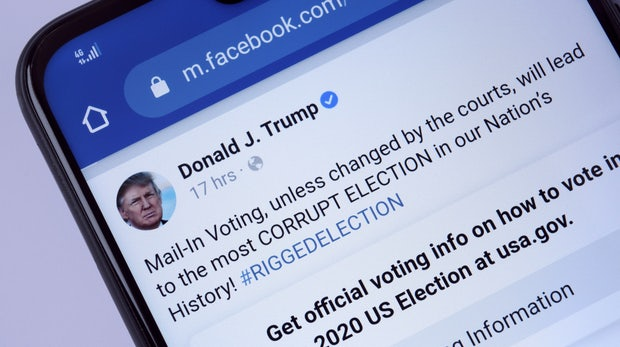 Facebook sperrt Trump-Account auf unbegrenzte Zeit