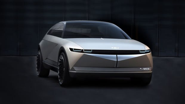 Das Concept 45 stellt die Basis für den Ioniq 5 dar. (Foto: Hyundai)