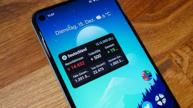 Covid-19: Android-App bringt Inzidenz-Wert-Widget auf den Homescreen