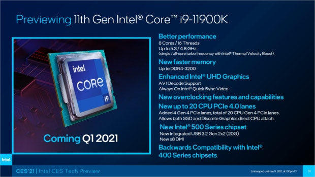 Intel i9 i9-11900K 11. Generation 11th Gen