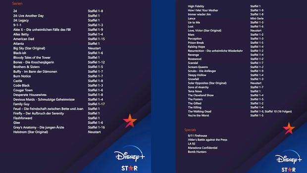 Disney + Inhalte