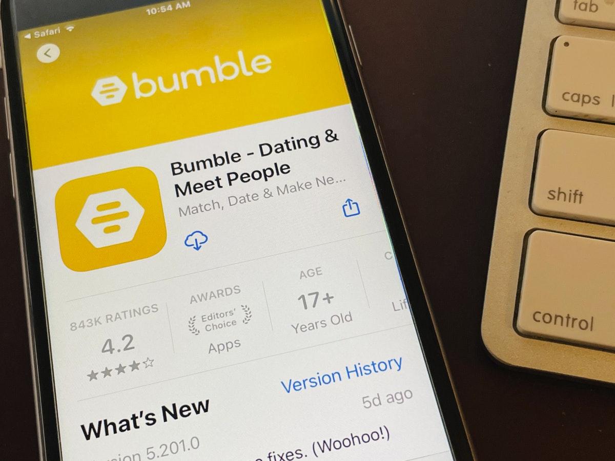 Die Dating-App Bumble (Foto: dpa)
