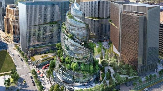 Amazons HQ2 in Arlington wird eine riesige Glasspirale – so soll das Gebäude aussehen
