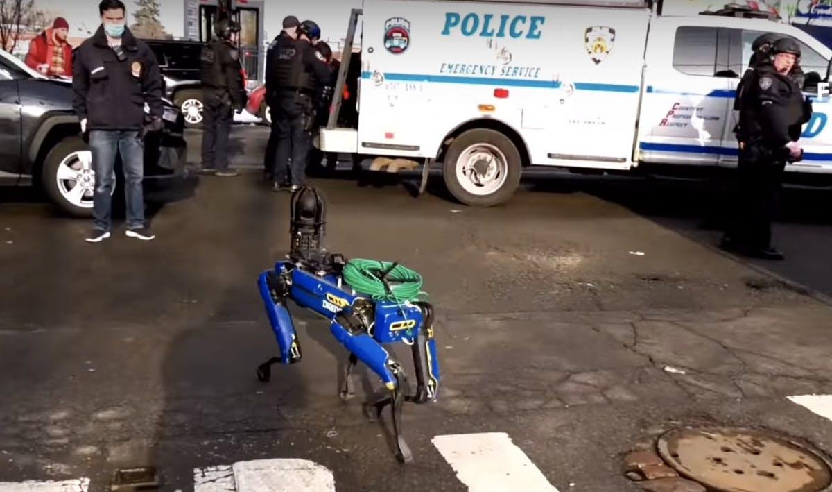 Roboterhund für New Yorker Polizei im Einsatz