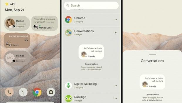 Android 12 soll dem letzen Leak zufolge neue Widgets an Bord haben. (Screenshot: XDA Developers)
