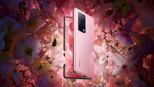 Huawei Mate X2 in Rosa. (Bild: Huawei)