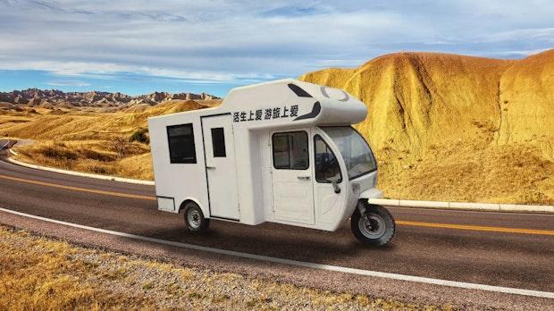 Für 4.800 Dollar: Kurioses Camping-Dreirad bei Aliexpress