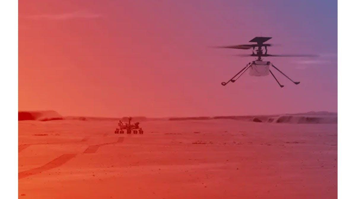 Mars-Drohne Ingenuity absolviert 1. Testflug mit Bravour