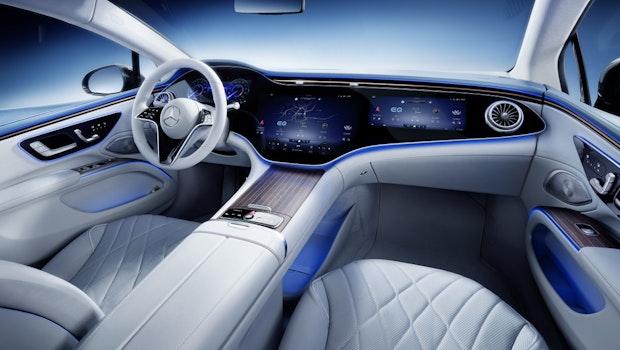 Mercedes EQS: So sieht die elektrische S-Klasse von innen aus. (Bild: Mercedes-Benz AG)