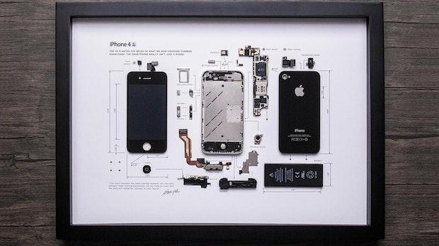 Gerahmtes iPhone: Diese Firma verwandelt alte Gadgets in Bilder