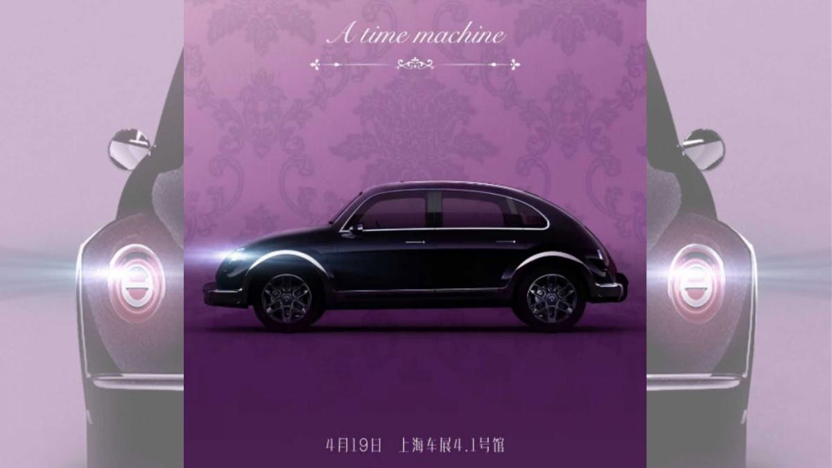 The Chinese clone original Beetles as electric four-door vehicles
