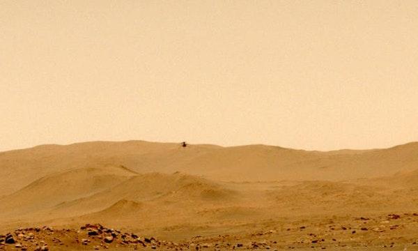 129 Meter: Mars-Helikopter Ingenuity absolviert ersten One-Way-Flug