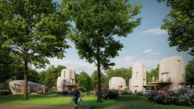 Häuser aus dem 3D-Drucker. (Foto: Houben/Van Mierlo architecten/Weber Benelux)