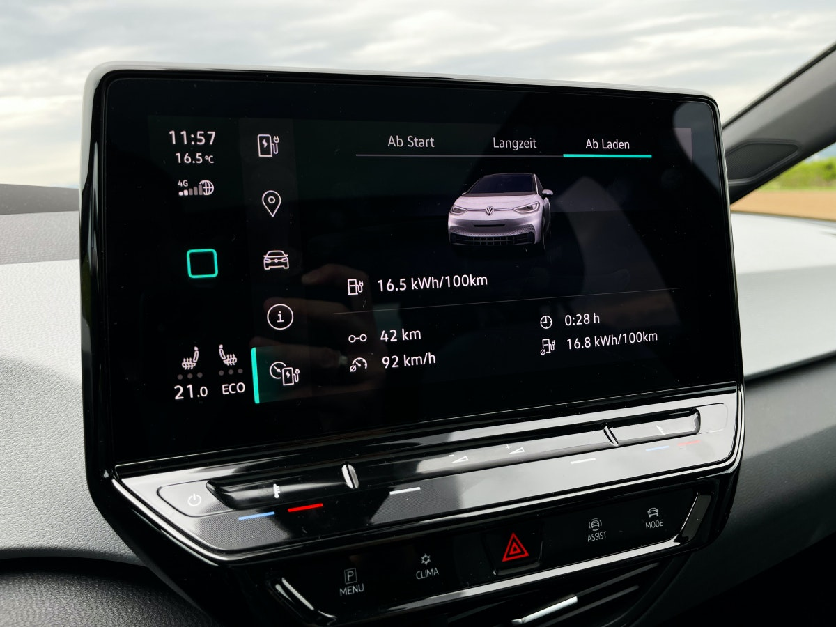 VW ID 3 in the test - consumption