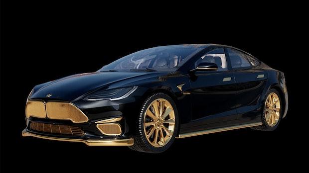 Vergoldetes Model S Plaid Plus: Gold-Tesla kostet 300.000 Dollar