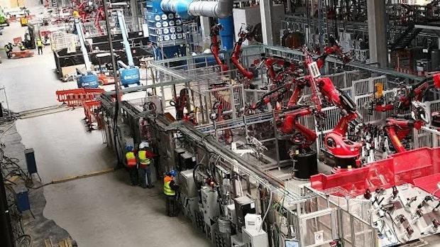 Fotos auf Google Maps zeigen Tesla-Gigafactory in Grünheide von innen