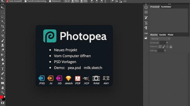 Photoshop-Alternative Photopea ist kostenlos und läuft im Browser